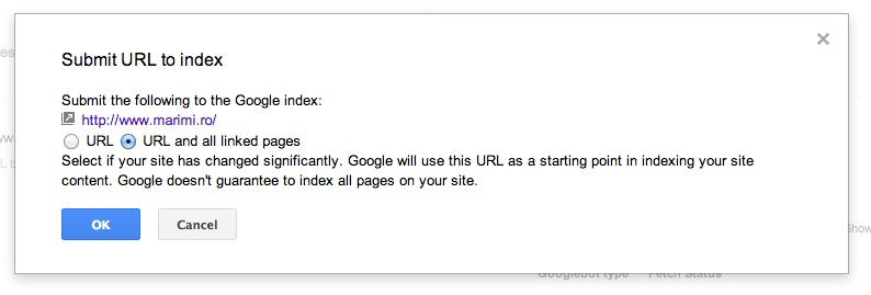 submit url index