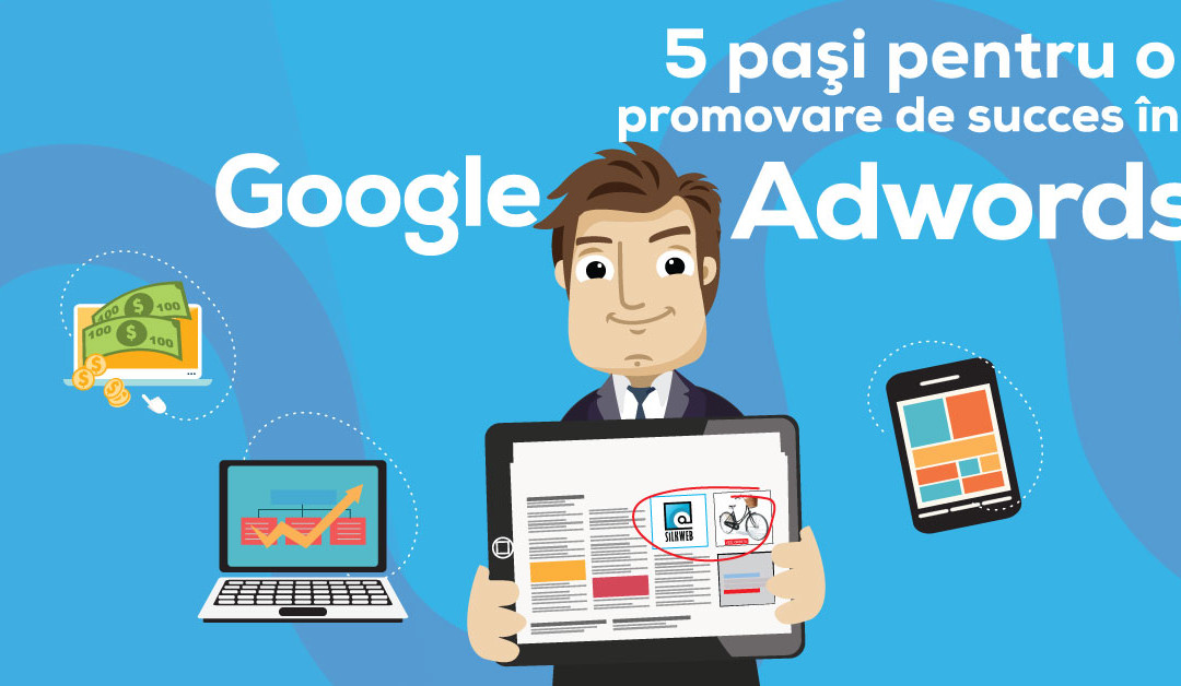 Infografic: 5 Pasi Pentru Campanii de Succes in Google Adwords