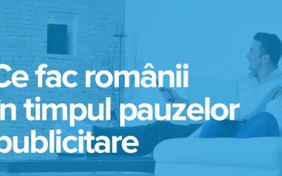 Ce fac românii în timpul pauzelor publicitare de la TV [Infografic]