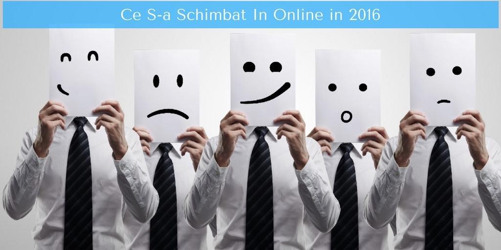 2016 La Bilant: Ce S-a Schimbat In Online