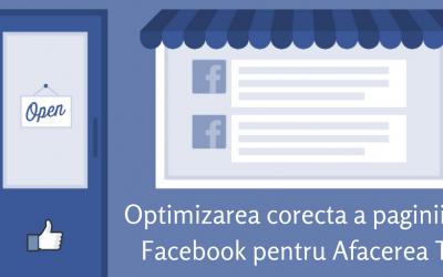 Optimizarea corecta a paginii de Facebook pentru Afacerea Ta