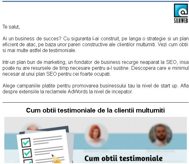 campanii de trimitere email