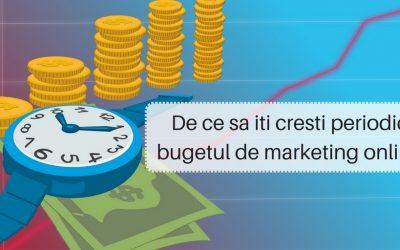 De ce sa iti cresti periodic bugetul de marketing online