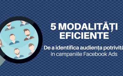 5 Modalitati eficiente de a identifica audienta potrivita in campaniile Facebook Ads