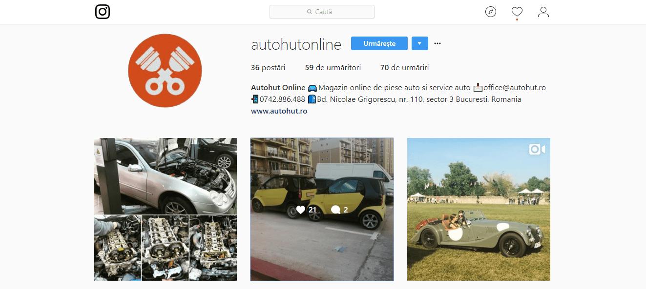 Instagram Autohut - magazin online de piese auto