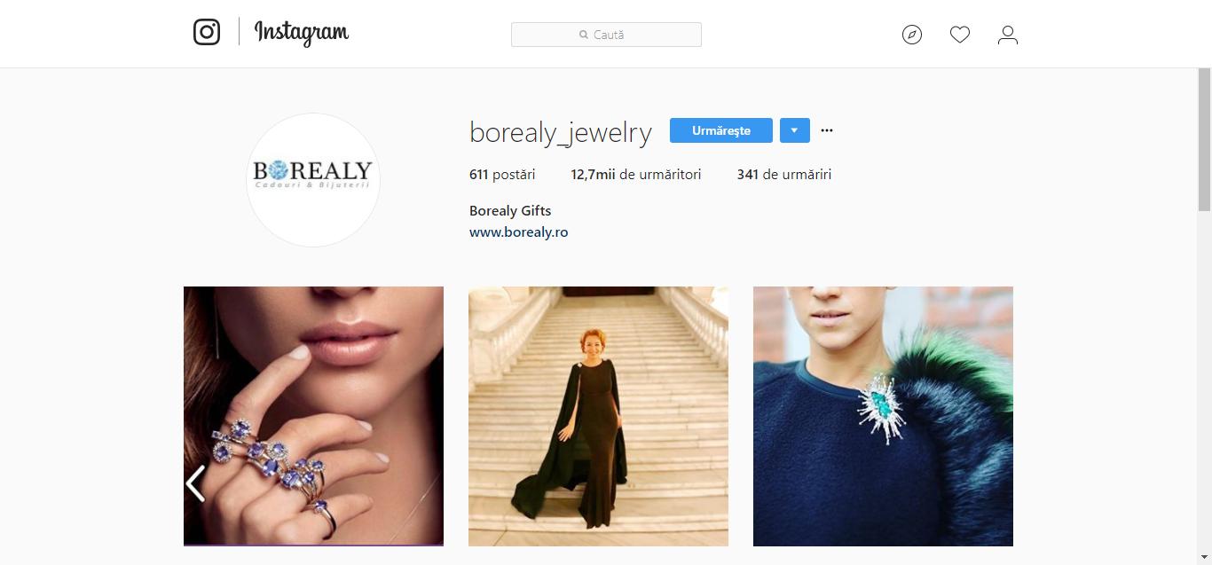 Instagram Borealy.ro - magazin online de bijuterii pe Gomag