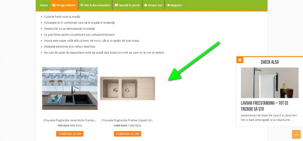 butonul de cumparaturi gomag folosit in blogul neakasia