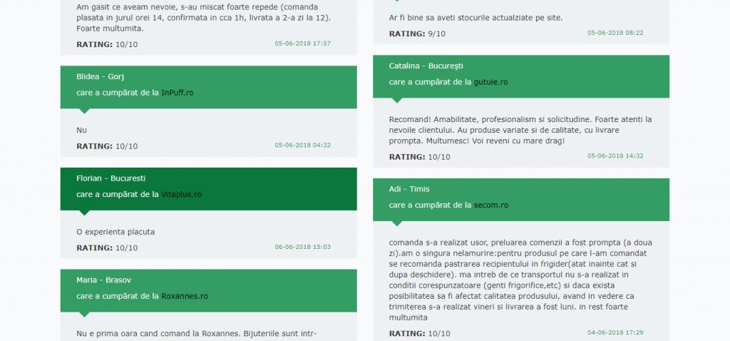 exemplu site recenzii pentru analiza competitorilor