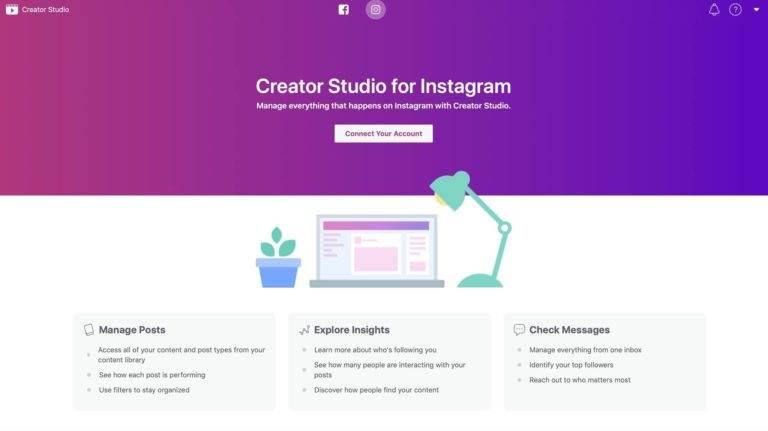 Creator Studio pe Instagram