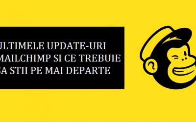 Ultimele update-uri MailChimp si ce trebuie sa stii pe mai departe