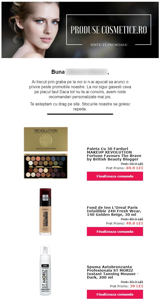 email personalizat