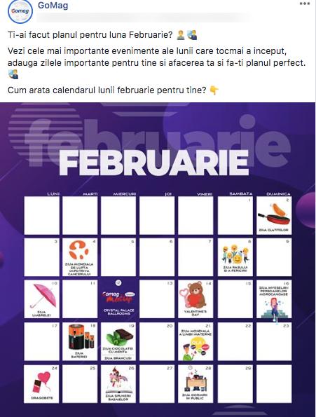 calendar februarie gomag